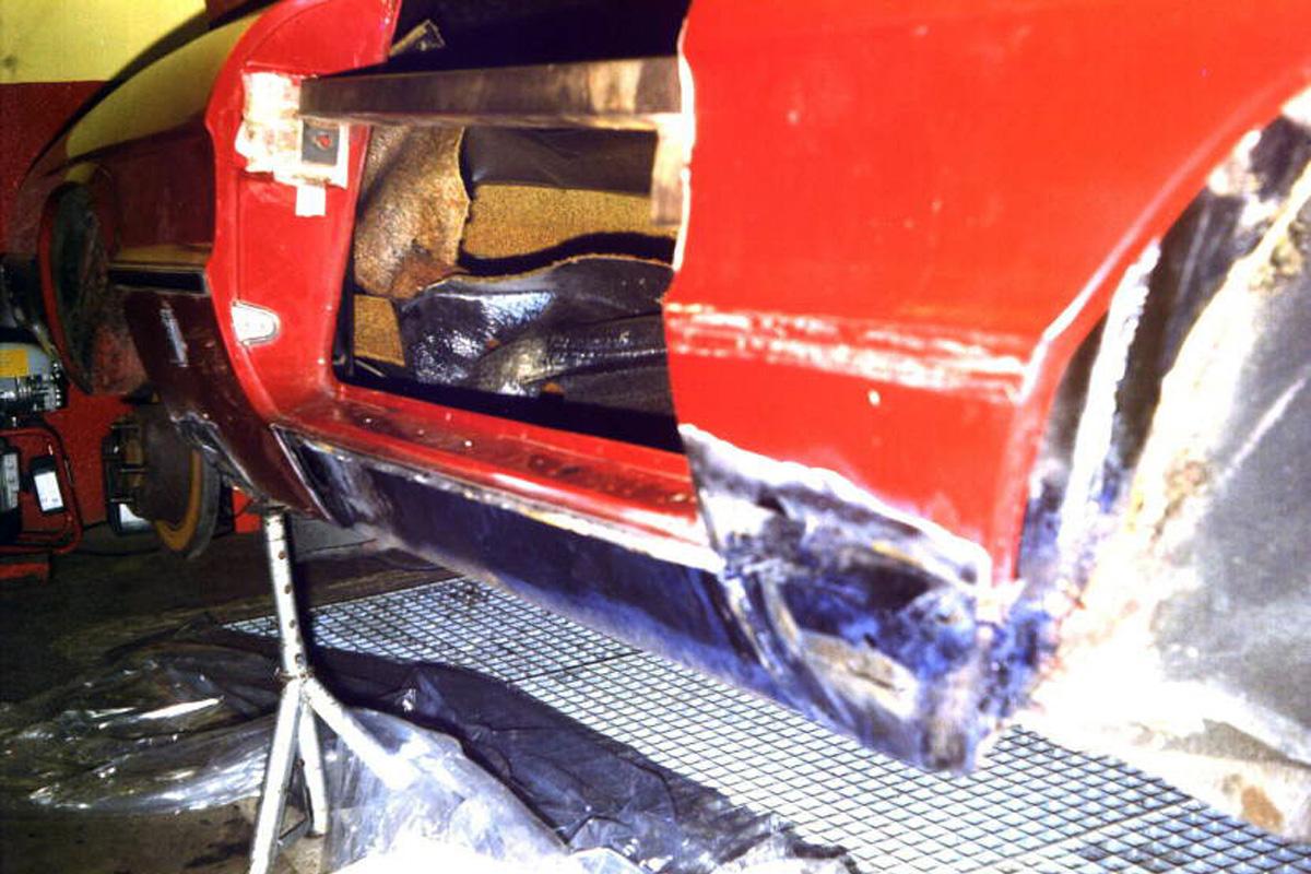 Schweller-Reparatur beim Alfa Romeo Spider (Baujahr 1979/1980)