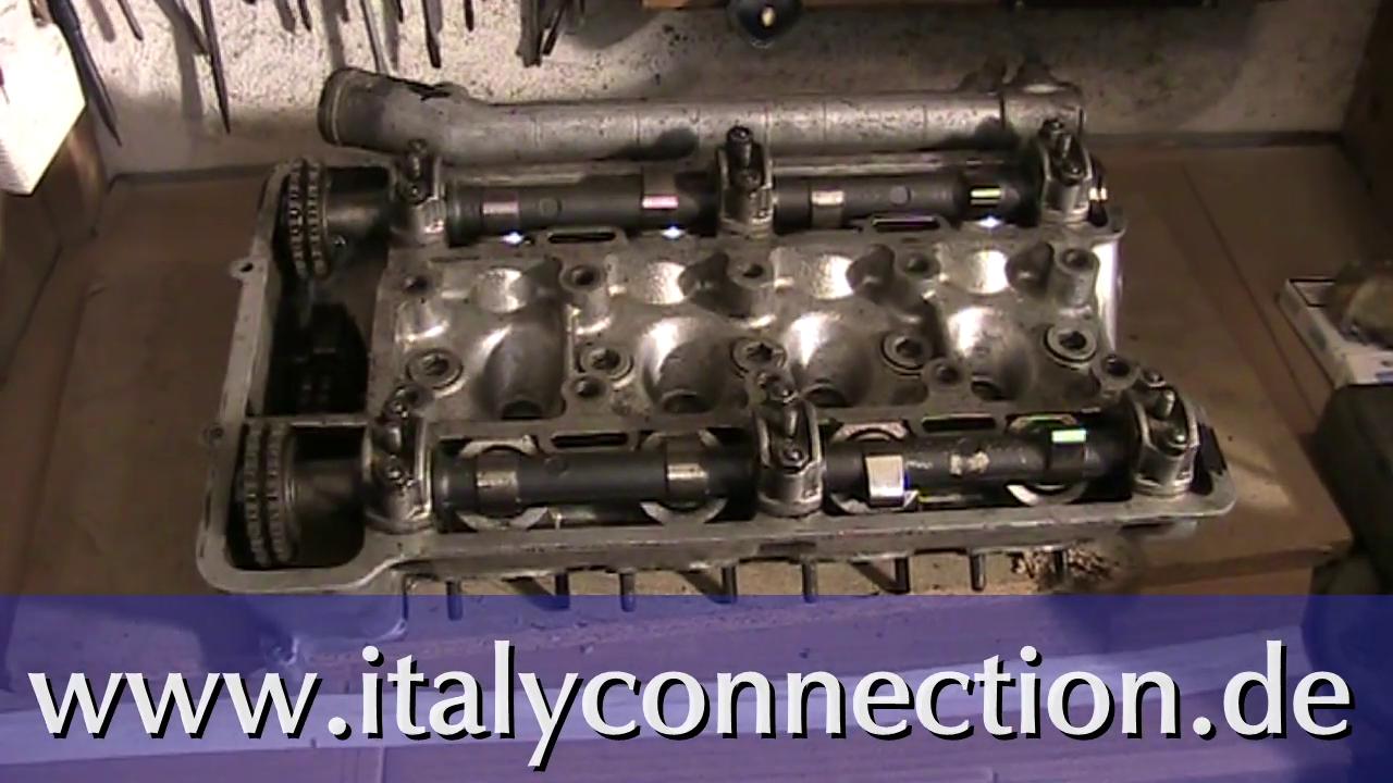 Alfa Romeo - Ventile ausbauen - Ventile reinigen - Ventile einschleifen