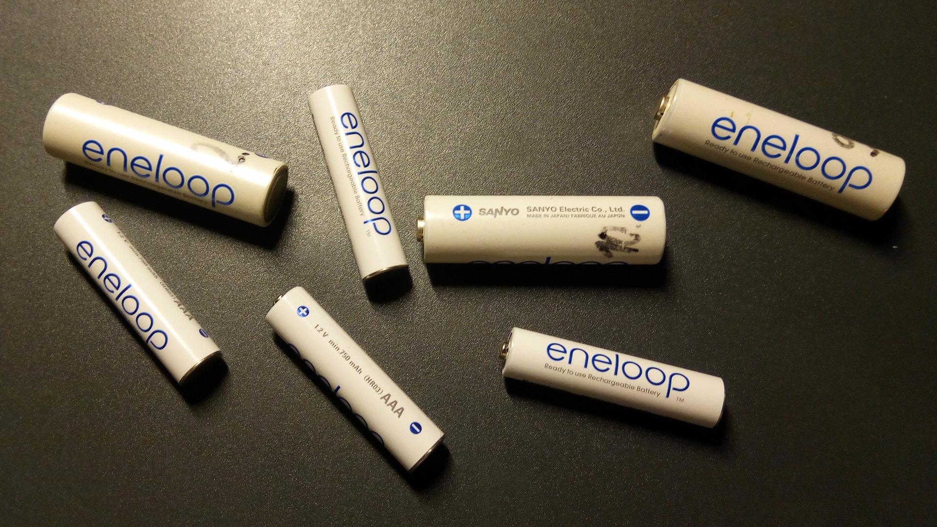 Die richtigen Batterien bzw. Akkus vom Typ Eneloop in der Werkstatt