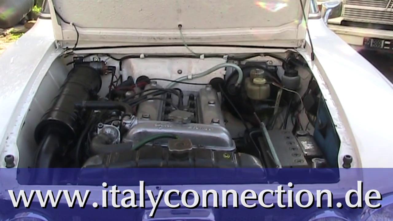 Dellorto Vergaser-Ausbau und Weber Doppelvergaser-Einbau bei der Alfa Romeo Giulia